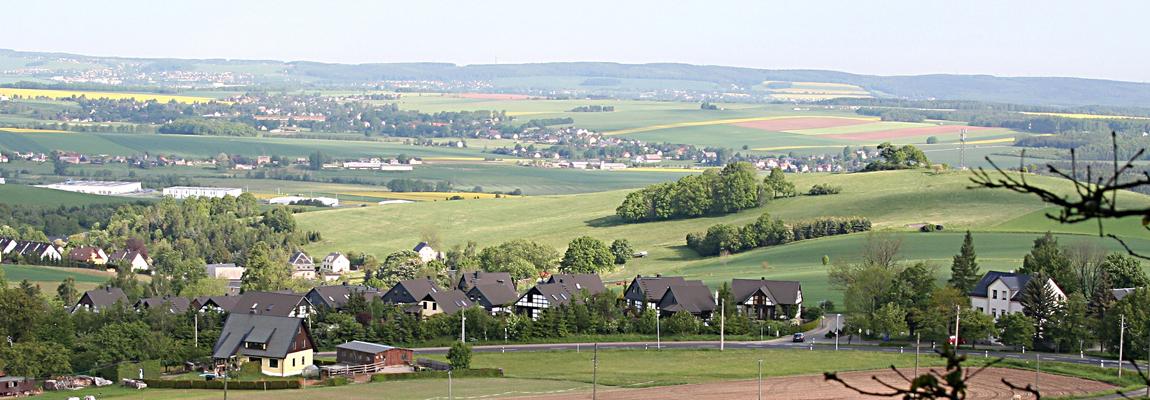 Blick über das Erzgebirge